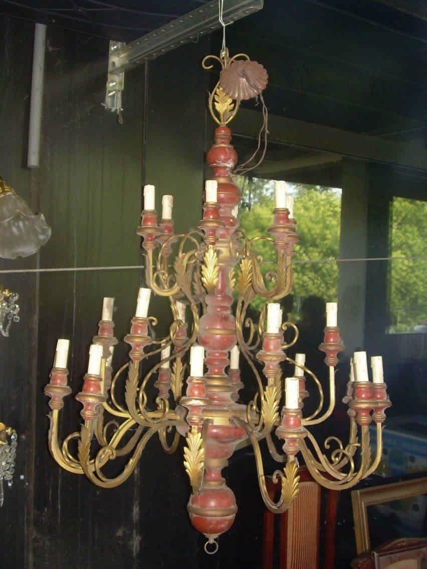 Lampadario 24 luci.legno e metallo_rextauro.info