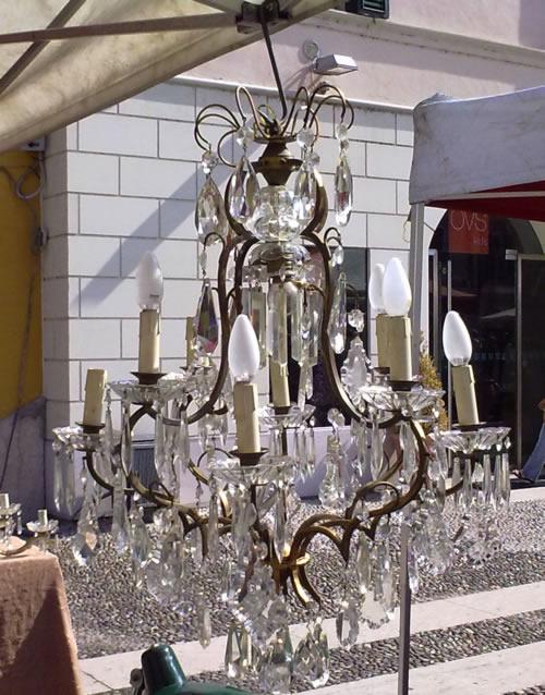 Lampadario Cristallo Anni 50.Lampadari Rextauro