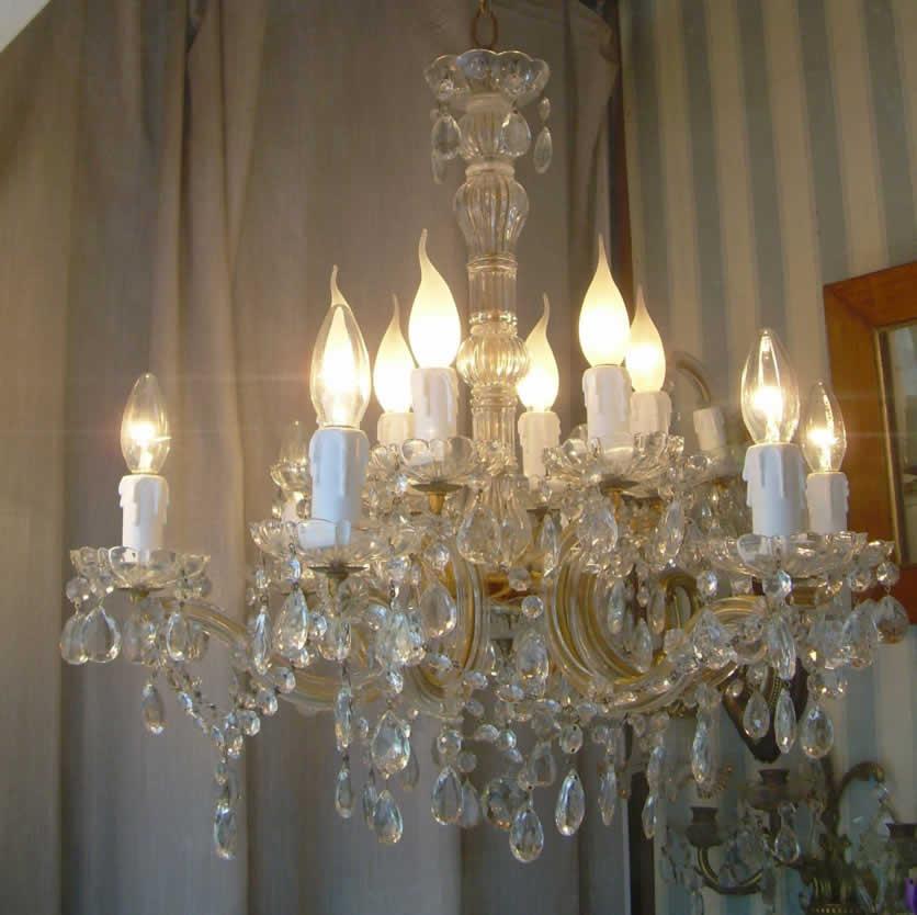 lampadari maria teresa : maria teresa lampadario lampadario anni 30 maria teresa a 12 luci con ...